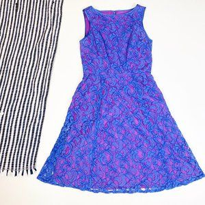 Adrianna Pappell Dress Fit n Flare A Line Dress 6